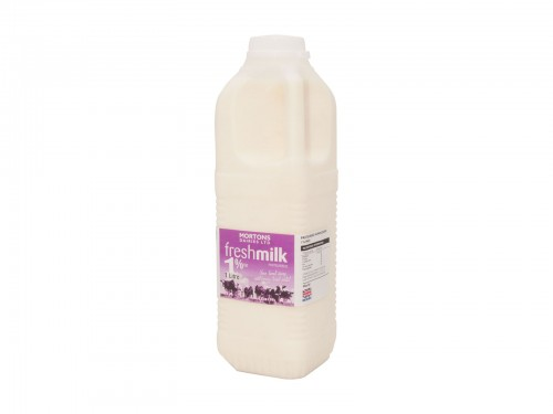 1 Litre Poly 1% milk