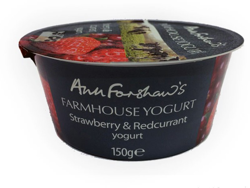 Ann Forshaw's Farmhouse Strawberry & Redcurrant Yoghurt 150g