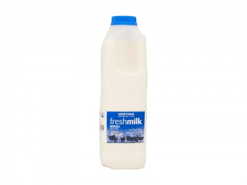 1 Litre Poly Whole milk