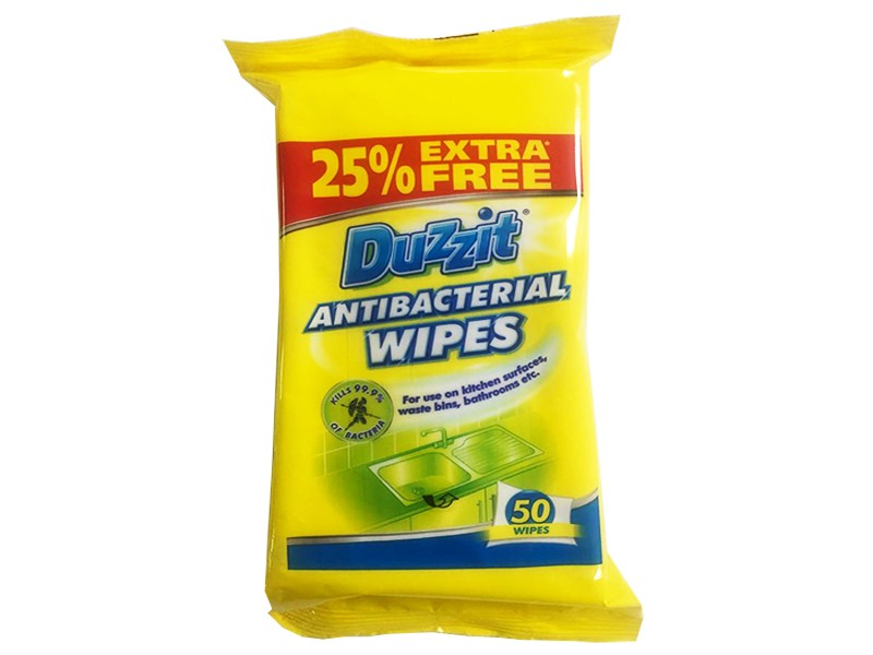 Duzzit Anti-Bacterial Wipes 50 Pack