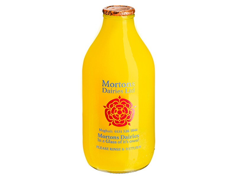 Orange Juice Glass bottle 1 Pint